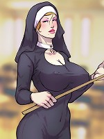 Cute cartoon dickgirl jerking cock